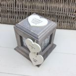 Shabby Chic In Memory Of A Sister Rustic Wood Style Personalised Photo Cube Box - 232994668849